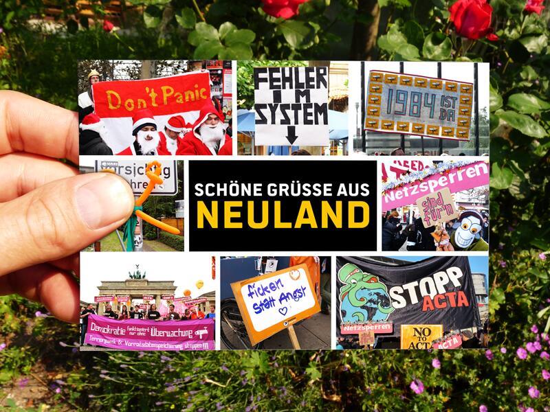 Ansichtskarte aus #Neuland